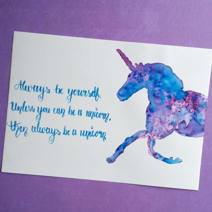 Letter Lovers nanoujess_creative: Handlettering Unicorn