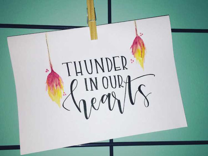 Letter Lovers Charmingletters: Handlettering Thunder in our hearts