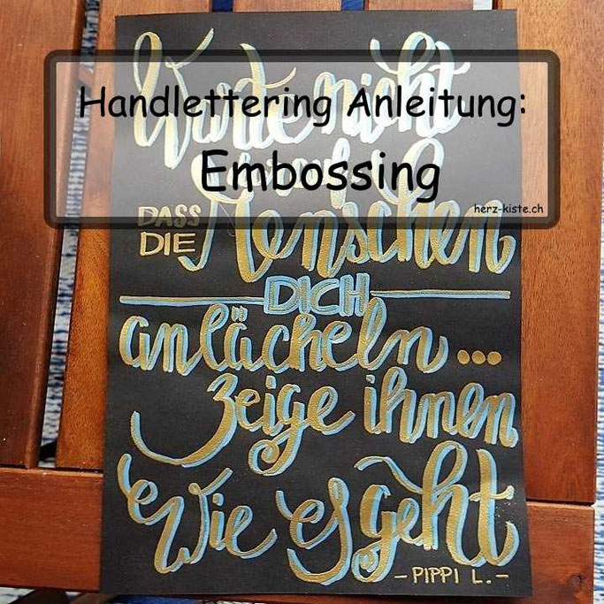 Handlettering Anleitung: Embossing