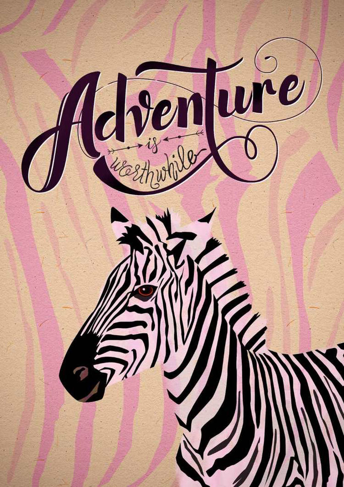 Letter Lovers sandra_graphics - Lettering mit Illustration - Adventure is worthwhile