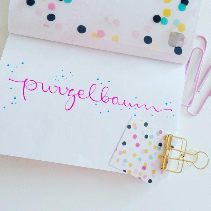 Handlettering Purzelbaum - Letter Lovers elsterchen