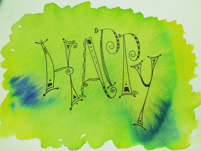 Handlettering happy - Letter Lovers schriftspielerei