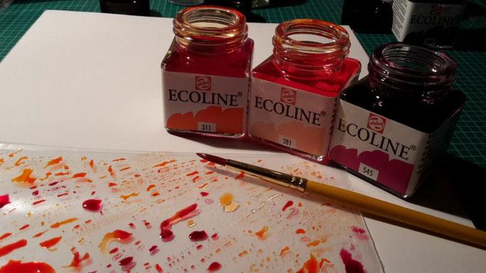Letter Lovers _conny_k_: Anleitung Hintergrund mit Ecoline Wasserfarben