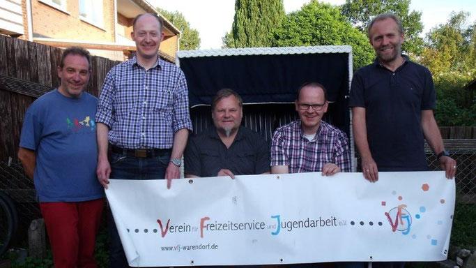 v. l. n. r.: Dieter Nissen, Oliver Prinz, Daniel Kiehne, Thomas Mundmann, Ansgar Westmark