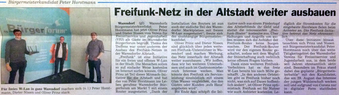 """Presseartikel aus der Warendorfer Lokalzeitung """"Die Glocke"""" vom 4. Juni 2020 (Bild: Horstmann)"""
