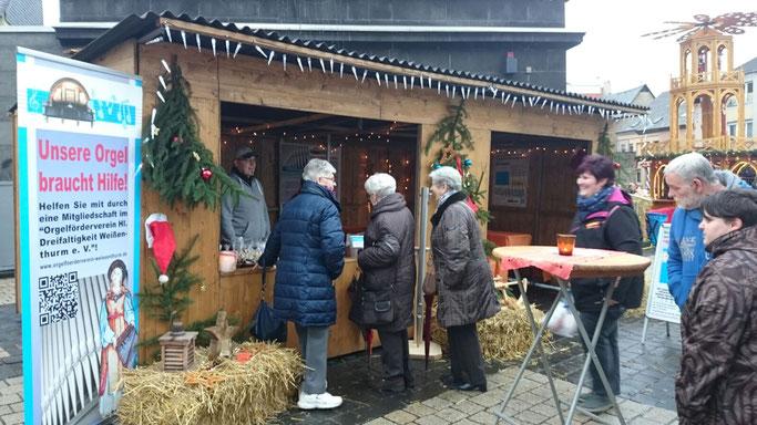 Weihnachtsmarkt 2015, Orgelförderverein, Klais-Orgel, Hl. Dreifaltigkeit