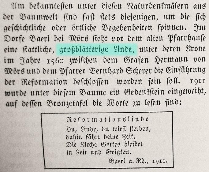 """Quelle: Hugo Otto """"Natur erzählt"""" ein Buch von der Heimat 1921, Seite 156"""