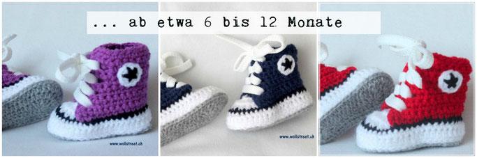 Baby Chucks ab etwa 6 bis 12 Monate (Länge: 11 - 12 cm)