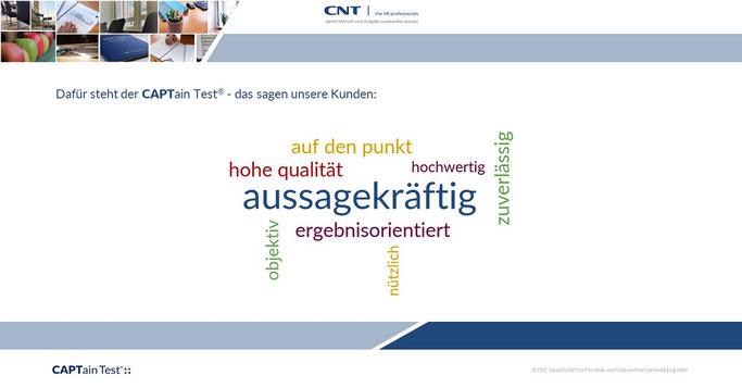 Dafür steht der CAPTain Test®: Ergänzen Sie Ihre Entscheidungen mit Informationen, die Ihnen einen Mehrwert schaffen.