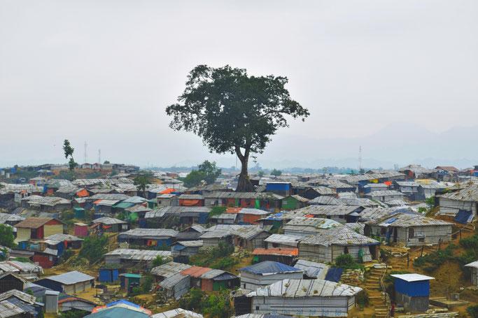 2017年8月の衝突以後、70万人を超えるロヒンギャがバングラデシュに逃れた