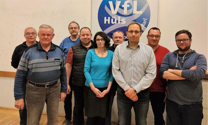 Das Vorstandsteam der TT-Abteilung: (v.l.) Ralf Brox, Alfred Antkowiak, Hermann Winkler, Michael Bähr, Kathrin Pahlke, Holger Werkmeister, Karsten Neumann, Stephan Krebs und Nils Steufmehl