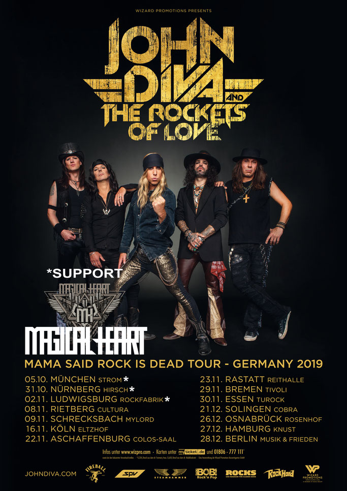 Magical Heart, Live Dates 2019, rock, Rockers And Other Animals, news