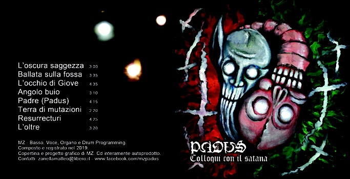 PADUS, new album, Colloqui con il satana, streaming, experimental doom, rockers and other animals, news