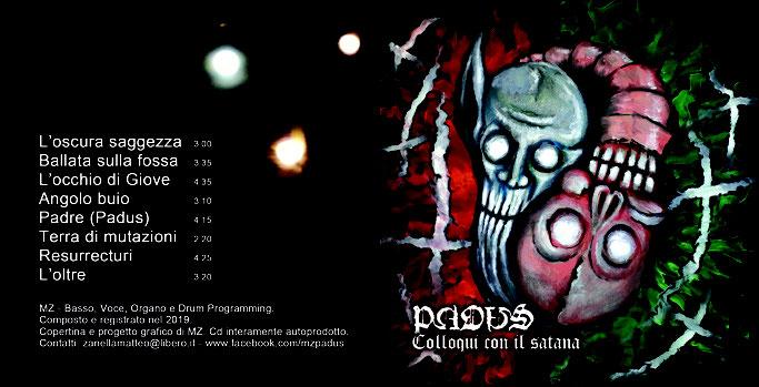 PADUS, new album, Colloqui con il satana, streaming, experimental doom, rockers and other animals, news