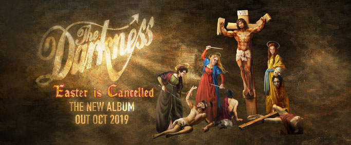 The Darkness, New Album, Easter Is Cancelled, news,  Cooking Vinyl, Rockers And Other Animals, Rock News, Rock Magazine, Rock Webzine, rock news, sleaze rock, glam rock, hair metal