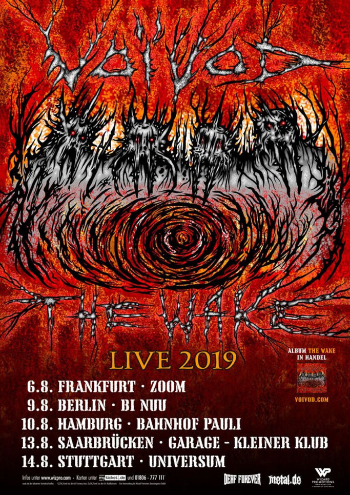 VOIVOD, European summer Dates, The Wake,North American tour, Century Media Records, News Rockers And Other Animals, Rock News, HEAVY METAL, Rock Magazine, Rock Webzine, rock news, sleaze rock, glam rock, hair metal