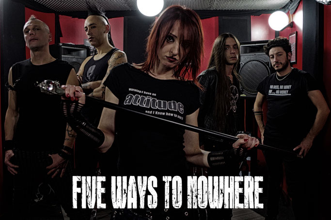 News italian hard rock band FIVE WAYS TO NOWHERE! rockers and other animals