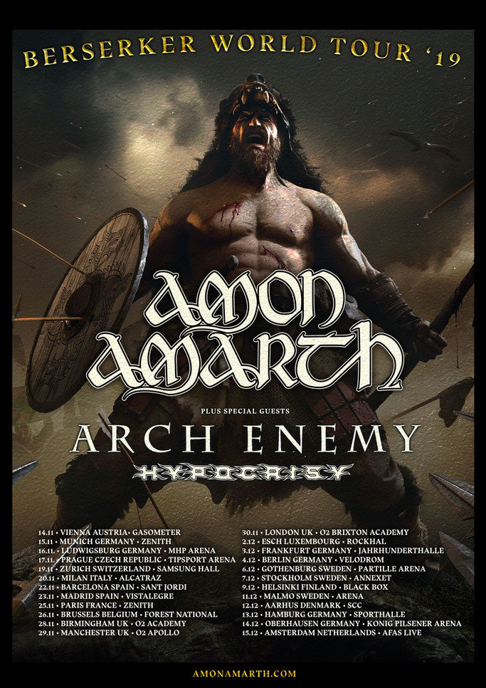 ARCH ENEMY announce European tour dates supporting AMON AMARTH, News Rockers And Other Animals, Rock News, NWOBHM, Rock Magazine, Rock Webzine, rock news, sleaze rock, glam rock, hair metal