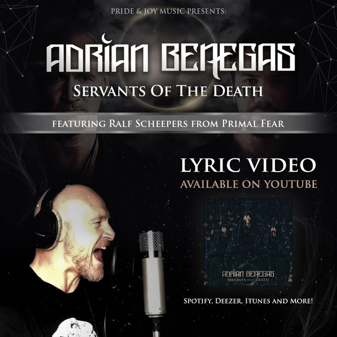 Adrian Benegas ft. Ralf Scheepers - Servants of the Death (Official Lyric video)