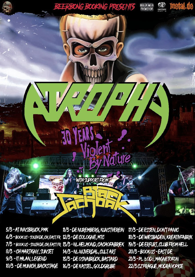 European tour  2020, Atrophy, rockers and other animals, news, Black Sachback Tour
