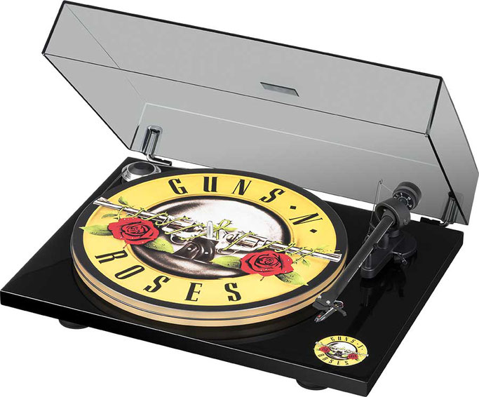 Pro-Ject, Guns N' Roses, Record Player, GNR, special edition, Artist Series, audio system, Rockers And Other Animals, Rock News, Rock Magazine, Rock Webzine