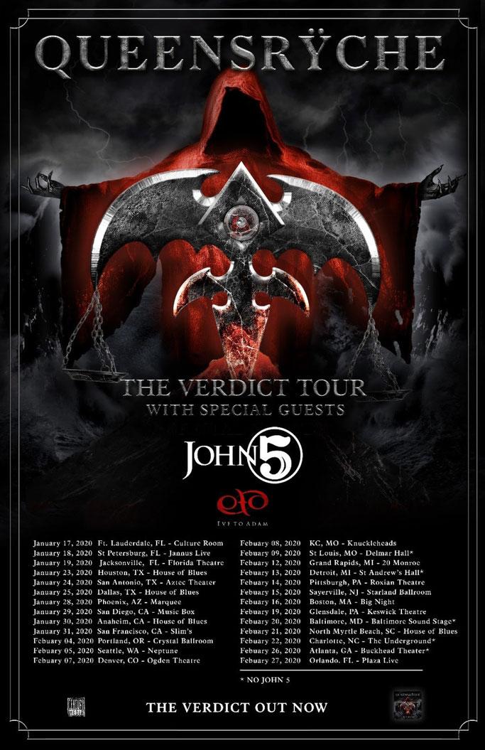 The Verdict 2020 Headline Tour, Queensrÿche, rockers and other animals