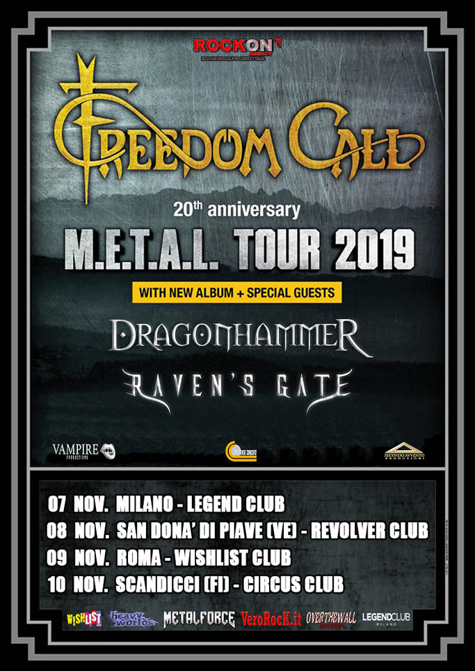 italian dates, FREEDOM CALL, News Rockers And Other Animals, Rock News, NWOBHM, Rock Magazine, Rock Webzine, rock news, sleaze rock, glam rock, hair metal, Chris Bay, new album M.E.T.A.L,