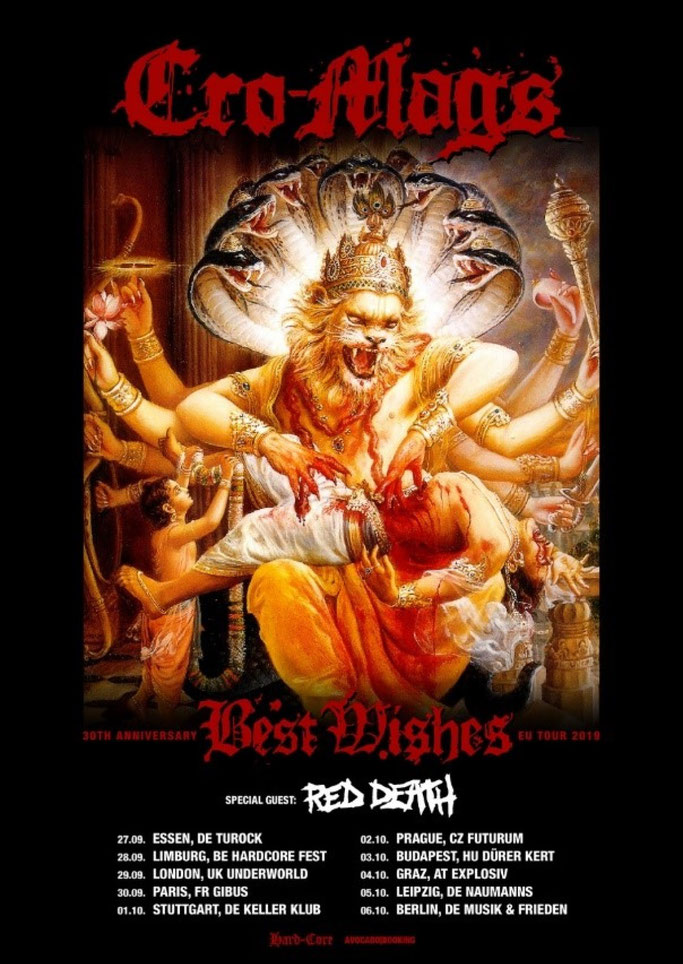 "RED DEATH announce new album ""Sickness Divine"" To tour Europe with Cro-Mags!"