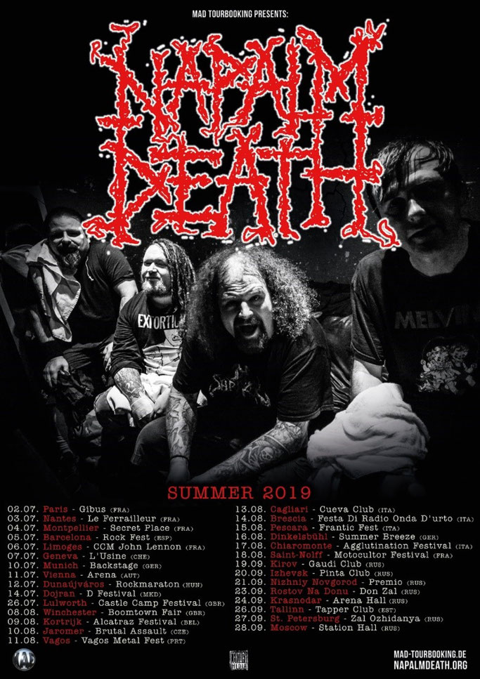 NAPALM DEATH, Tour, Century Media Records, Grindcore, Coded Smears And More Uncommon Slurs, News Rockers And Other Animals, Rock News, HEAVY METAL, Rock Magazine, Rock Webzine, rock news, sleaze rock, glam rock, hair metal