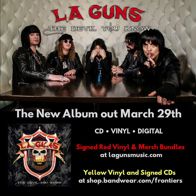 L.A. Guns, Music Video, The Devil You Know, new album, Title Track, Rockers And Other Animals, RockAintDead, Rock News, Rock Magazine, Rock Webzine,