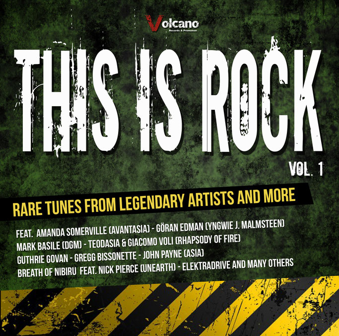 This Is Rock - Vol. 1, Volcano Records, Compilation, New release, Rockers And Other Animals, Rock News, Rock Magazine, Rock Webzine, rock news, sleaze rock,  Love Machine , Guthrie Govan, John Payne, glam rock, hair metal,  Amanda Somerville,