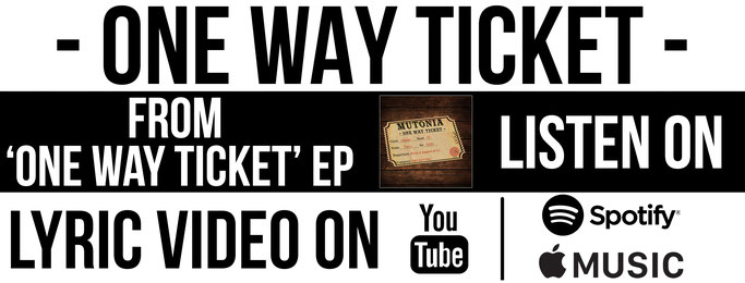 Alternative Rock, Mutonia, Lyric Video, One Way Ticket, News Rockers And Other Animals, Rock News, Rock Magazine, Rock Webzine, rock news, sleaze rock, glam rock, hair metal