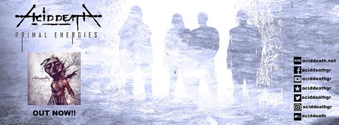 """ACID DEATH – ALBUM """"PRIMAL ENERGIES"""", singles """"Primal Energies"""" and """"Godless Shrines""""."""