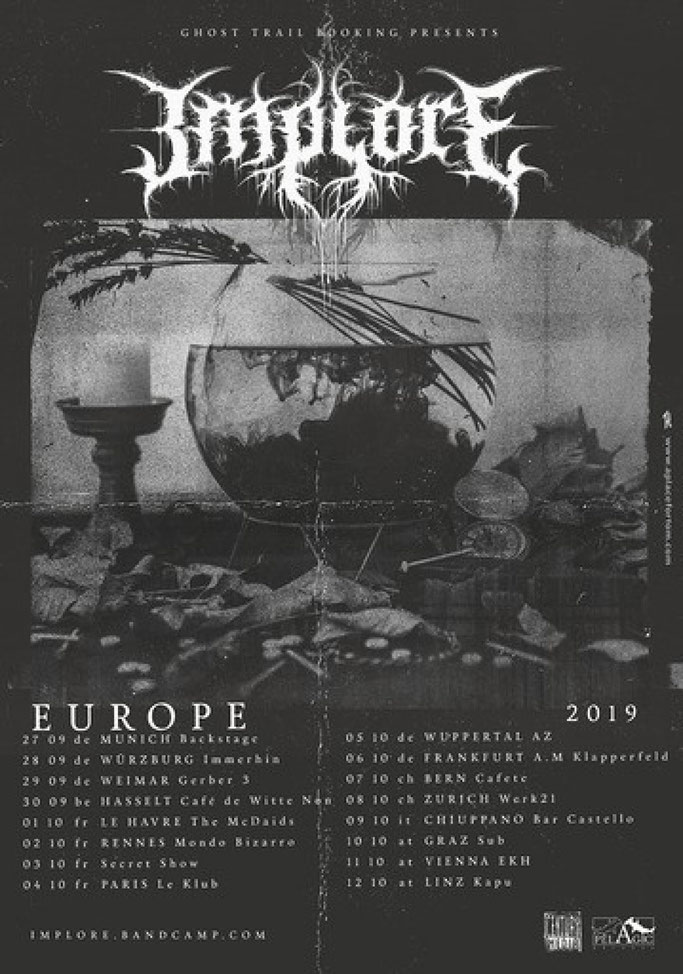 ALIENATED DESPAIR,  IMPLORE will take off a tour throughout Europe in September