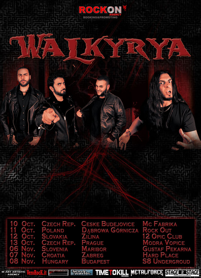 European tour,Heavy-Thrash Metal,Walkyrya, News Rockers And Other Animals, Rock News, NWOBHM, Rock Magazine, Rock Webzine, rock news, sleaze rock, glam rock, hair metal
