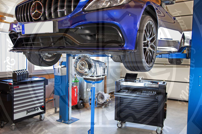 Diagnose Automatikgetriebeölspülung Aus-, Einbau Mercedes Benz Automatikgetriebe