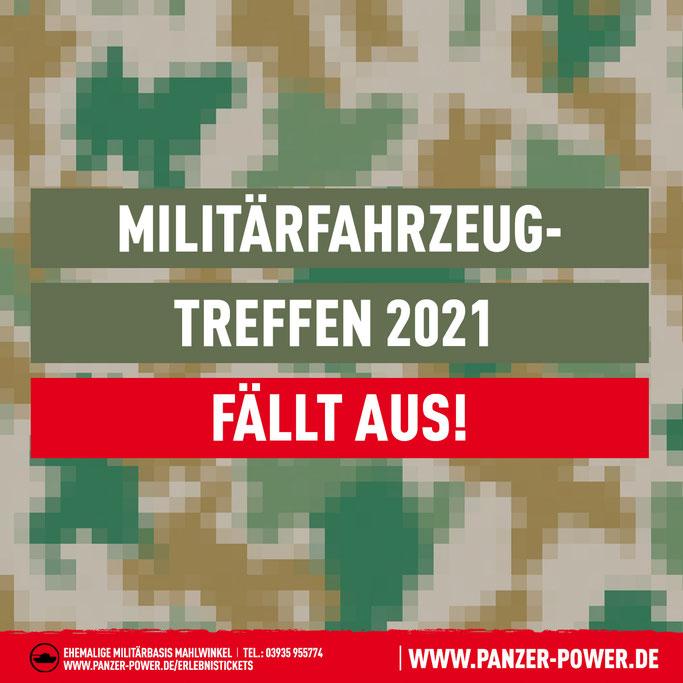 Das Militärfahrzeug- und Ostmobile-Treffen 2021 in Mahlwinkel bei Panzerfahrschule Panzer-Power