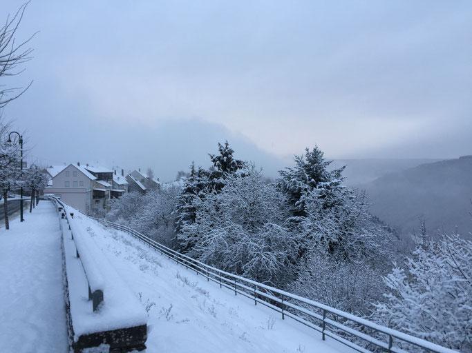 Der Ort bei Schnee