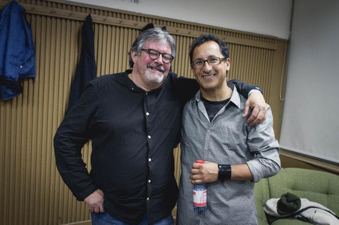 Con Carlos Araneda.