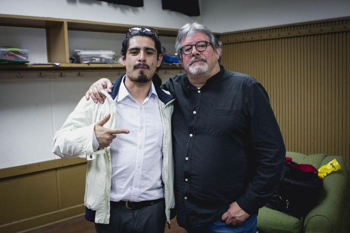 Con Alvaro Segovia