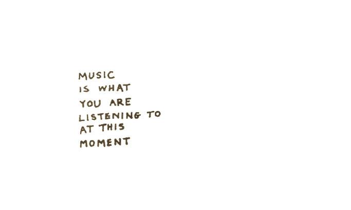 George Brecht, Music..., 1989, postcard