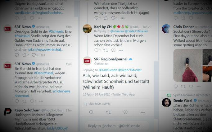 Tweetdeck by Twitter: Kommentare SRF Aargau Solothurn