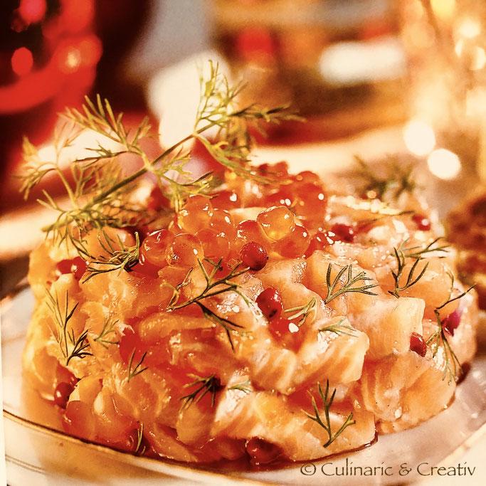 Weihnachtliches Lachs-Tartar