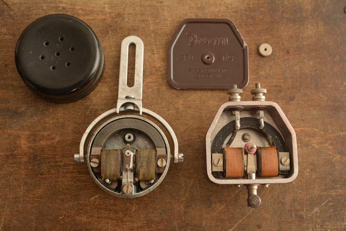 "Headphones & Gramophone pickup 1920's. Both made by ""Brown"" of Acton, London"