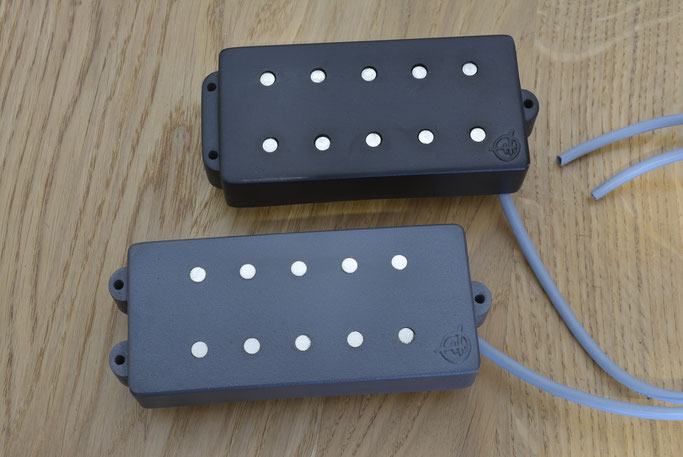 MM ghost coil humbuckers, also available for 5 string bass