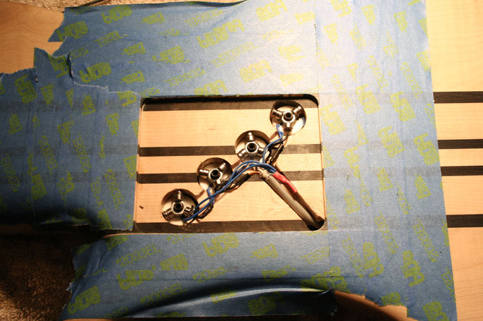 skeleton / hidden 4 coil for bass made for the Greek