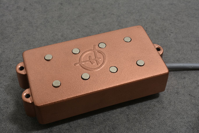 Copper powder finish on an MM Ghost for 4 string Bass