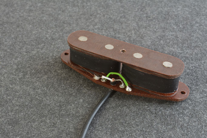 Humbucking dual coil Tele Bass pup wound as a special order, with an 11 K Ohm output