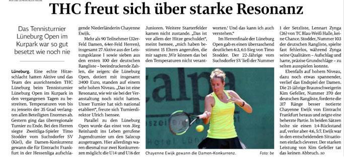 Lüneburg Open und Salzcup   Tennis THC Lüneburg