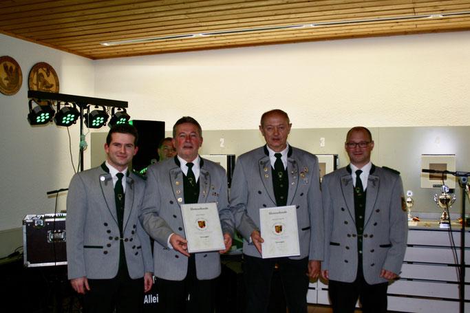 Die neuen Ehrenmitglieder Roland Binkert und Reinhold Schleicher